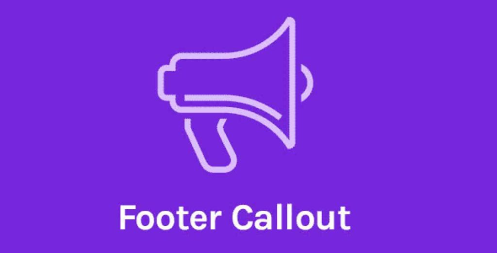 OceanWP Footer Callout pour Elementor